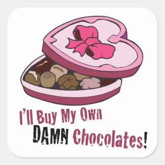 Funny Anti Valentine Square Sticker