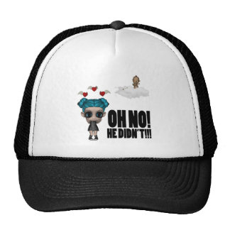 funny anti vday uninvited cupid emo girl trucker hat