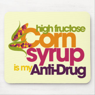Funny antidrug mouse pad