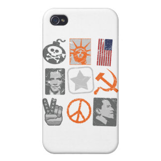 Funny antiobama historical icons iPhone 4/4S covers
