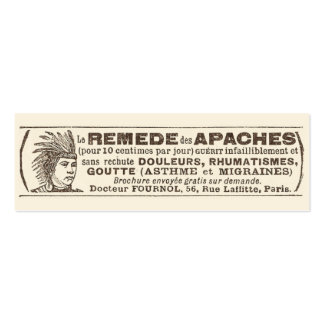Funny Antique Quack Doctor Apache Remedy Business Card Template