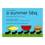 Funny ANTS Summer BBQ Bash Invitation at Zazzle