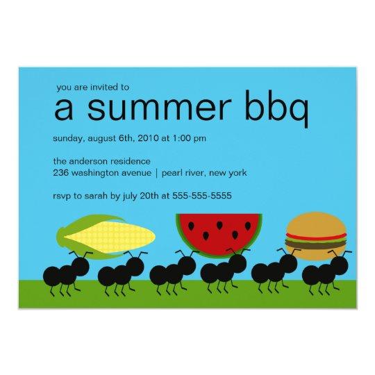 funny ants summer bbq bash invitation zazzle com