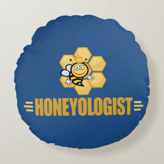 Funny Apiculture Round Pillow