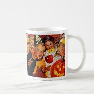 Funny Apple Bobbing for Halloween Mug