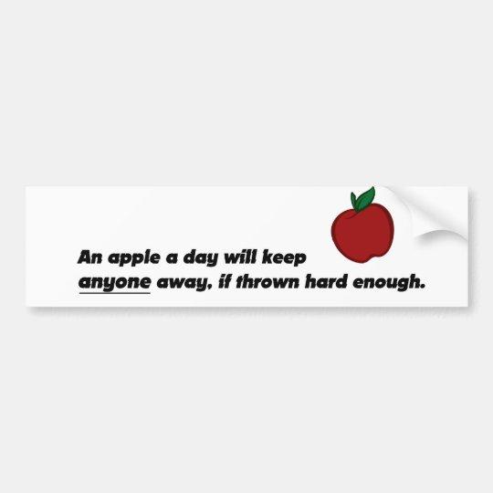 Funny Apple Bumpersticker Bumper Sticker