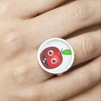 Funny Apple For Teacher Ring