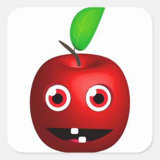 Funny Apple For Teacher Square Sticker