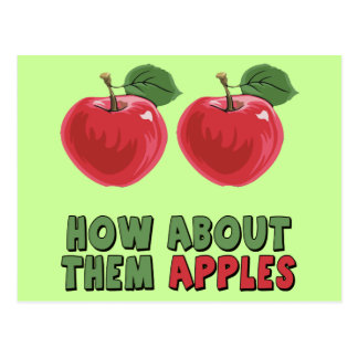 Funny Apples T-shirts and Gifts For Her Post Cards