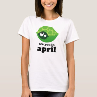 Funny April Due Date Maternity Announcement Tshirt