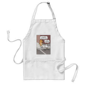 Funny apron: Dog and Chicken