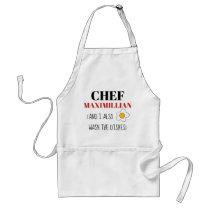Funny apron for men custom name