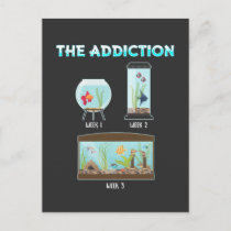 Funny Aquarium Geek Fish farming Humor Postcard