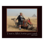 Funny Arabic Proverb Egypt Pyramids Camel Photo Posters