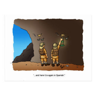 Funny Archaeologist Humor Cave Drawings Postcard