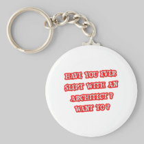 Funny Architect Pick-Up Line Basic Round Button Keychain