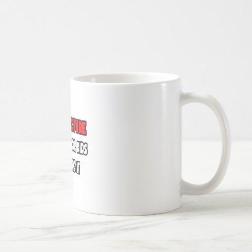 Funny Architect Shirts and Gifts Classic White Coffee Mug