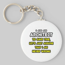Funny Architect T-Shirts and Gifts Basic Round Button Keychain