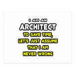 Funny Architect T-Shirts and Gifts Postcard