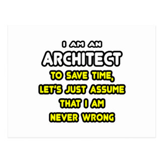 Funny Architect T-Shirts and Gifts Post Card
