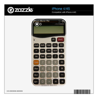Funny Architectural Calculator Decals For The iPhone 4