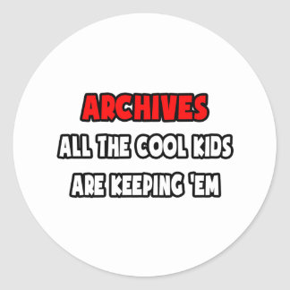 Funny Archivist Shirts and Gifts Stickers