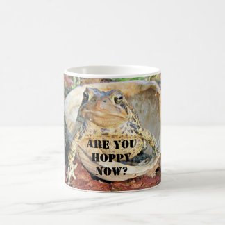 Funny Are You Hoppy Now? Toad In Turtle Shell Coffee Mug