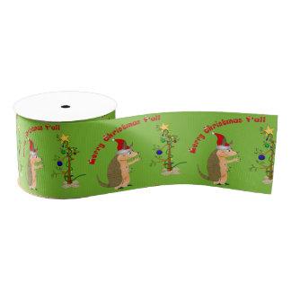 Funny Armadillo Christmas Blank Ribbon