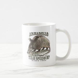Funny Armadillo Speedbumps by Mudge Studios Classic White Coffee Mug
