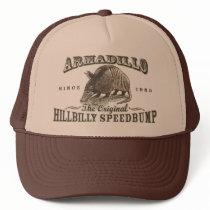 Funny Armadillo Speedbumps by Mudge Studios Trucker Hat