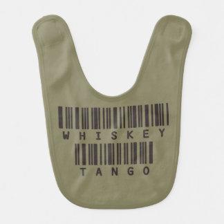 Funny Army Slang Baby Bib - Whiskey Tango