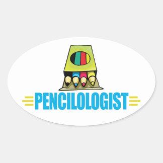 Funny Artist Oval Sticker