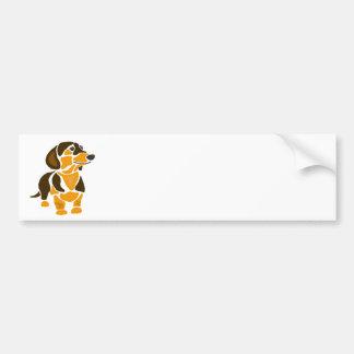 Funny Artistic Dachshund Dog Art Bumper Sticker