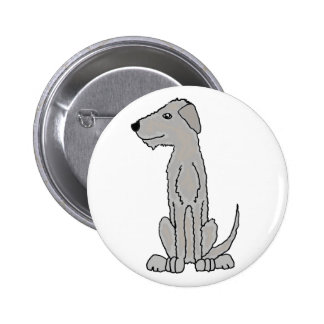 Funny Artistic Irish Wolfhound Art Button