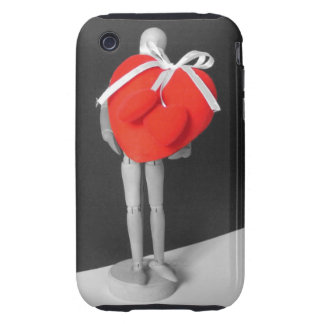 Funny Artist's Mannequin with Love Hearts Photo iPhone 3 Tough Cover