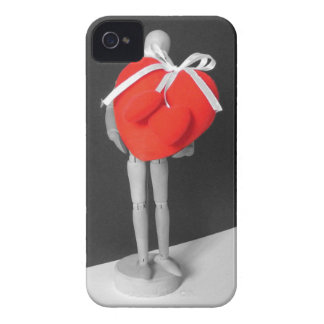 Funny Artist's Mannequin with Love Hearts Photo iPhone 4 Cover