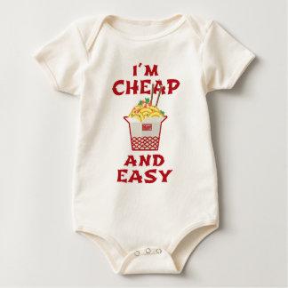 Funny Asian Instant Ramen Noodles I'm Cheap & Easy Baby Bodysuit