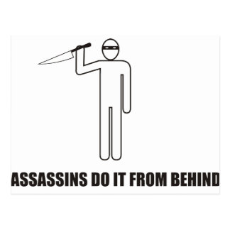 Funny - Assassins do it from behind Postcard