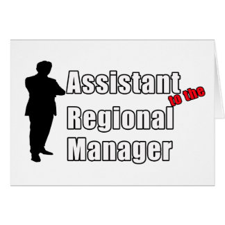 Funny Assistant to the Regional Manager Card