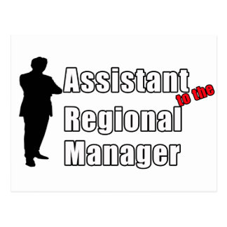 Funny Assistant to the Regional Manager Postcard