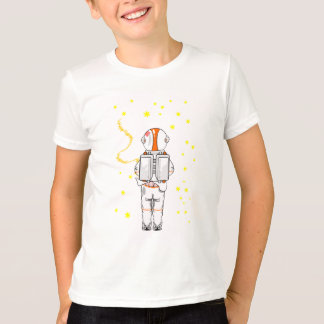 Funny Astronaut Caught Short Weeing In Space T-Shirt