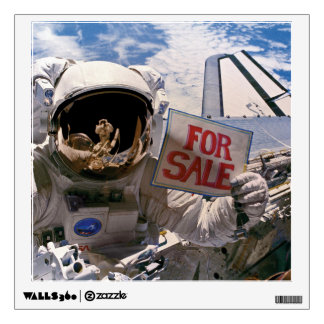 Funny Astronaut - Satellites For Sale Wall Sticker
