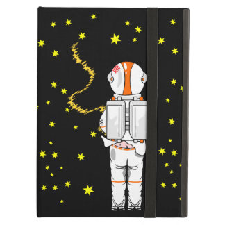 Funny Astronaut Weeing at Zero Gravity on Moon iPad Air Cover