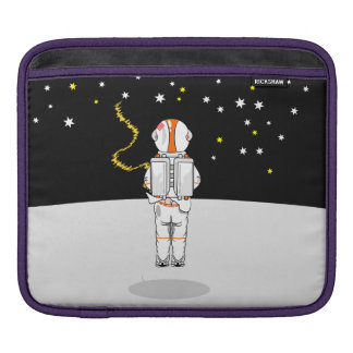 Funny Astronaut Weeing at Zero Gravity on Moon Sleeve For iPads