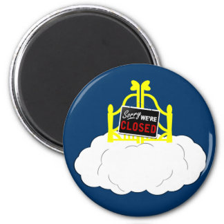Funny atheism 2 inch round magnet