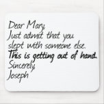 Funny atheist design mousepads