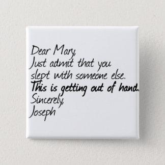 Funny atheist design pinback button