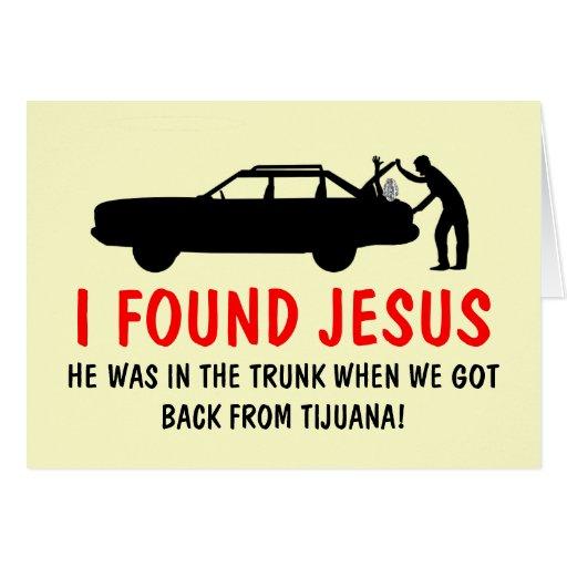 Funny atheist I found Jesus Card