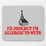 Funny atheist mouse pad