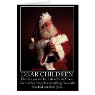Atheist christmas cards greeting photo cards zazzle funny atheist santa card m4hsunfo
